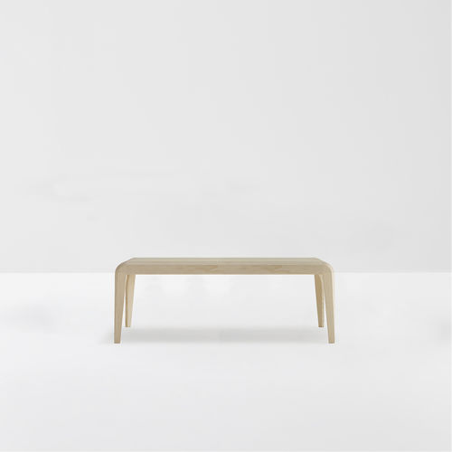 contemporary table / lacquered wood / ash / stained wood