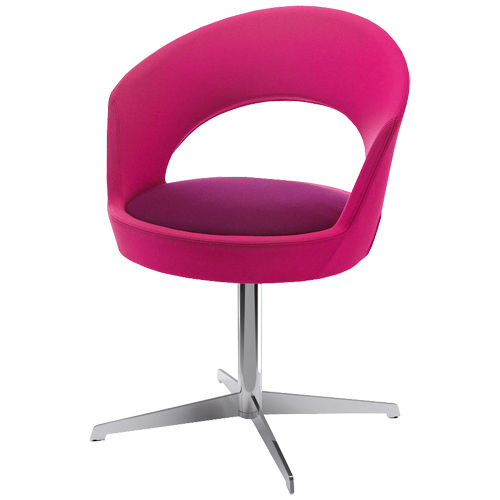contemporary chair / with armrests / upholstered / star base