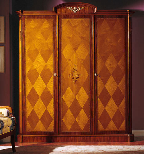 Empire style wardrobe / wooden / with swing doors
