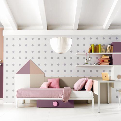 white children's bedroom furniture set / pink / wooden / girl's