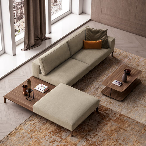 modular sofa / contemporary / fabric / 2-person