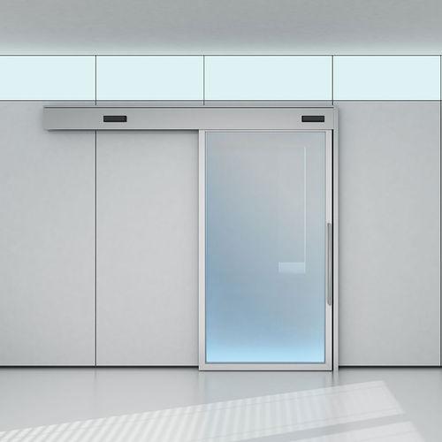interior door / sliding / wooden / glass