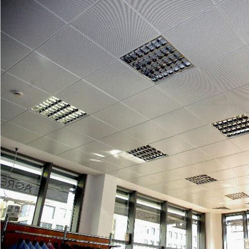 steel suspended ceiling / tile / acoustic / flame-retardant