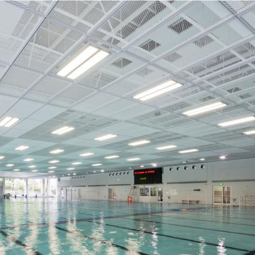 steel suspended ceiling / panel / acoustic / wire