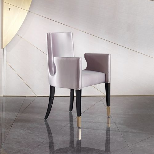 traditional chair / upholstered / with armrests / standard base