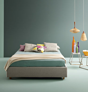 Materassi Bedding.Double Bed Single Contemporary Upholstered Sommier Basic