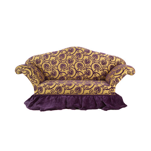 traditional sofa / fabric / leather / 3-seater