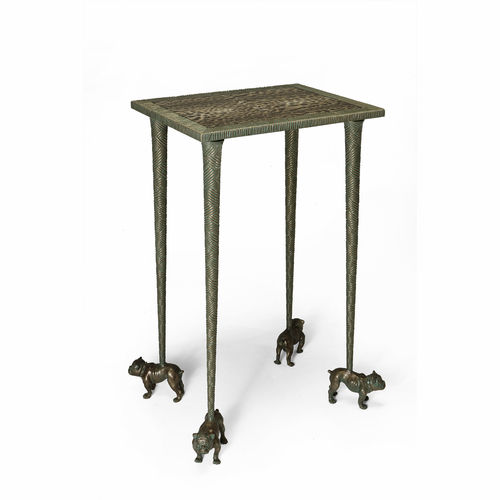 classic sideboard table / bronze / fabric / square