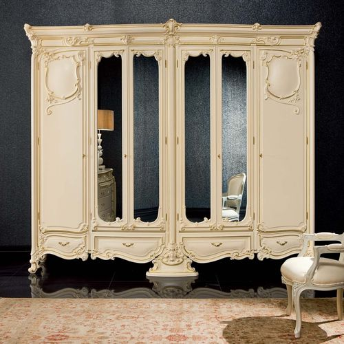 classic wardrobe / wooden / with swing doors / for hotels