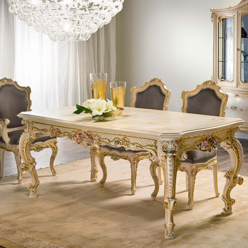 classic dining table / crystal / rectangular / for hotels