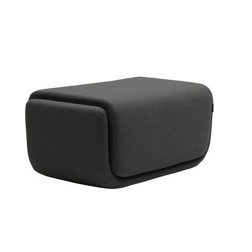 contemporary pouf / fabric / rectangular / customizable color