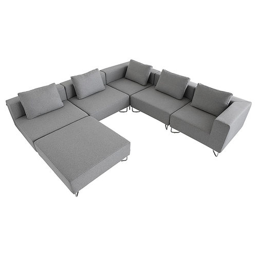 modular sofa / contemporary / fabric / chromed metal
