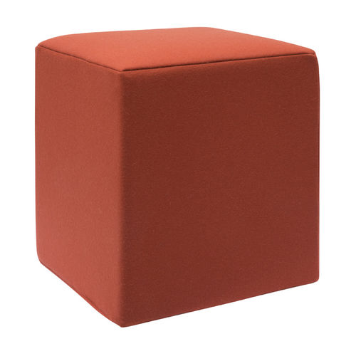 contemporary pouf / fabric / square / modular