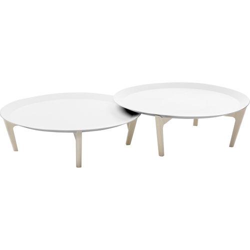 contemporary coffee table / ash / acrylic / round