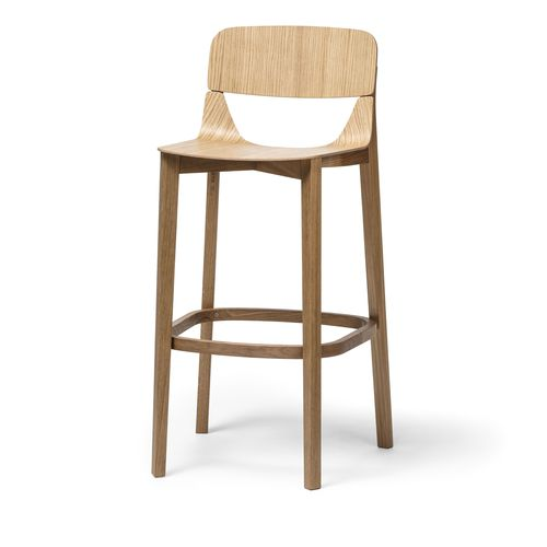 contemporary bar chair / wooden