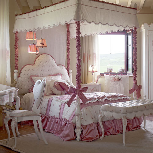 canopy bed / single / classic / girl's