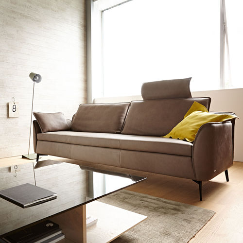 Contemporary Sofa Novell Koinor Leather 3 Seater With Headrest