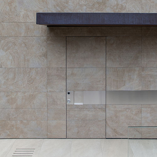 entry door / swing / pocket / stone