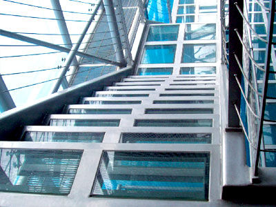 laminated glass panel / tempered / safety / low-e