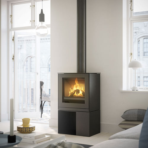gas heating stove / contemporary / steel