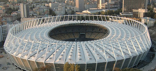 cable-and-membrane tensile structure / roof / with ETFE membrane / for stadiums