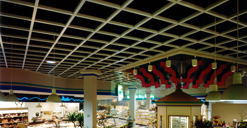 wooden suspended ceiling