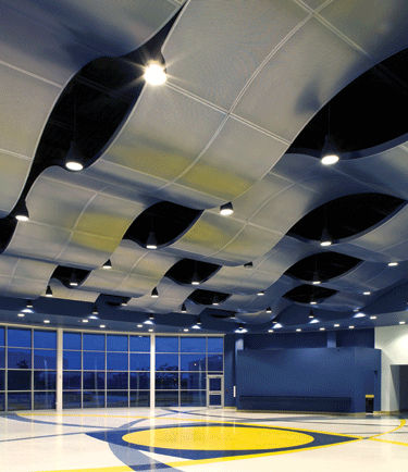 aluminum suspended ceiling / panel / acoustic / perforated