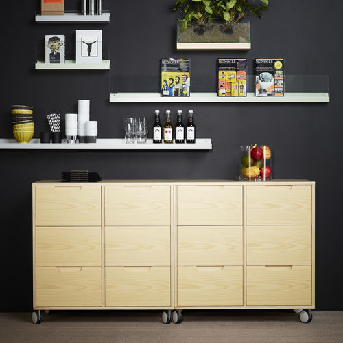 contemporary chest of drawers / oak / ash / MDF