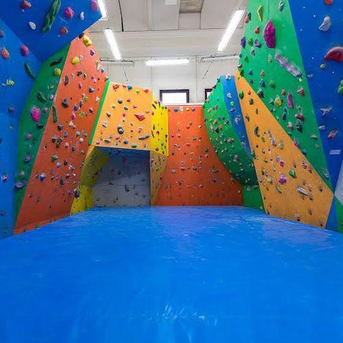 indoor climbing wall landing mat