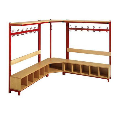 locker room bench / contemporary / metal / melamine