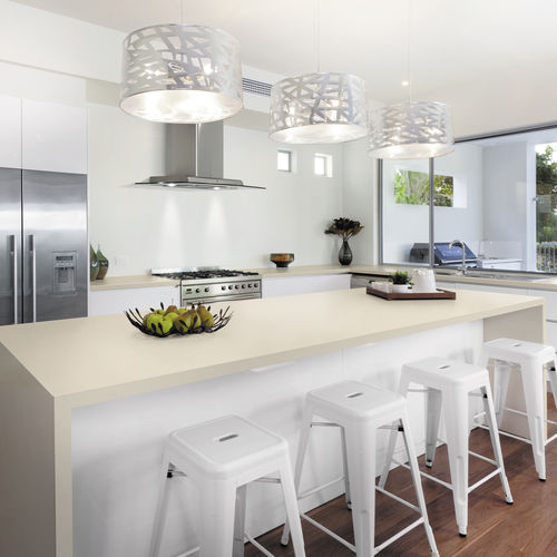 porcelain stoneware countertop / kitchen / heat-resistant / wear-resistant