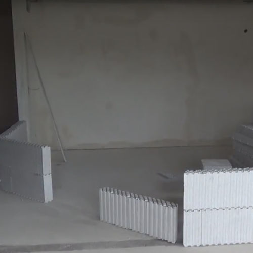 expanded polystyrene (EPS) formwork block / for interior walls / for partition walls / insulating