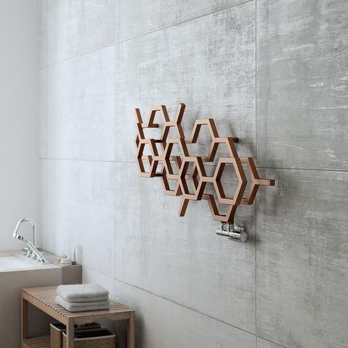 hot water towel radiator / metal / design / wall-mounted