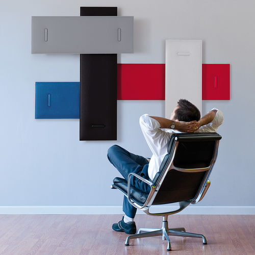 wall-mounted acoustic panel / polyester / decorative / commercial