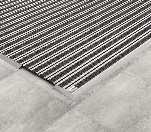 commercial entrance mat / aluminum / rubber / non-slip