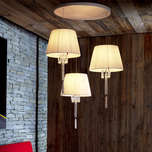 Pendant Lamp Torch Baccarat Contemporary Brass Crystal