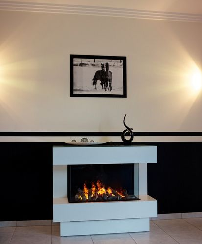 closed electric hearth / 1-sided / metal
