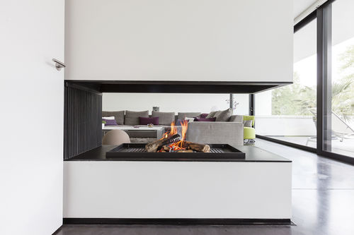 wood-burning fireplace - Metalfire