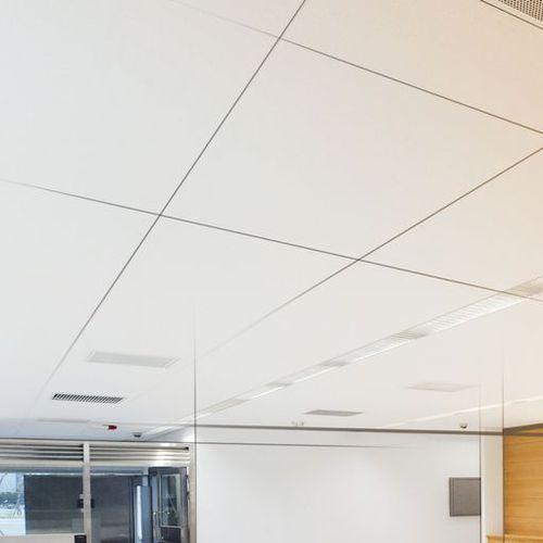 metal ceiling suspension system / with hidden framework