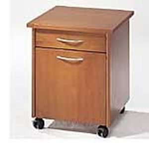 contemporary bedside table / wooden / for healthcare facilities / commercial