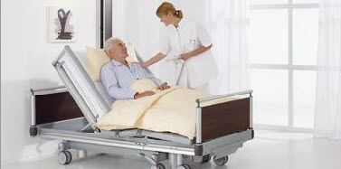 medical bed / contemporary / metal