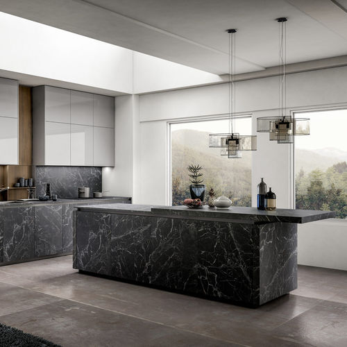 contemporary kitchen / laminated wood / glossy lacquered wood / laminate
