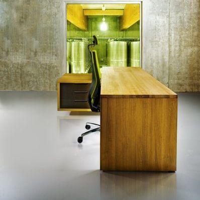wooden desk / contemporary / commercial