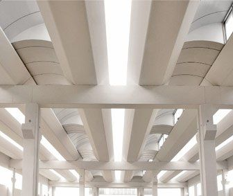 flat beam / prestressed concrete / with symmetrical section / roof