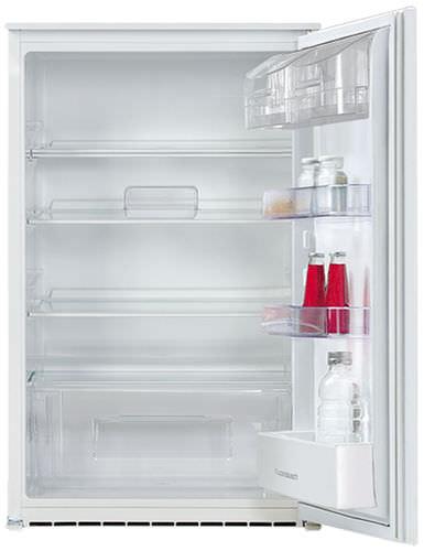 undercounter refrigerator / white / energy-efficient / built-in
