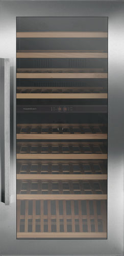 stainless steel wine cabinet / electric / glazed