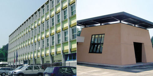 panel curtain wall / colored reinforced concrete