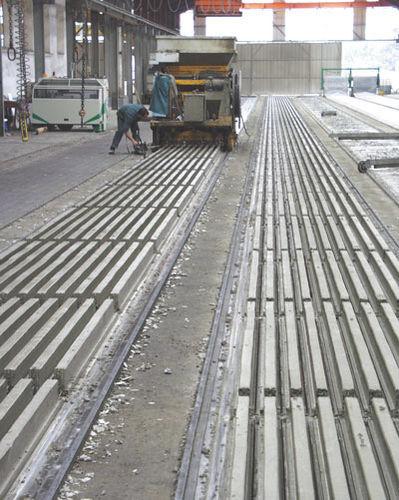 prestressed concrete girder / for flooring / precast