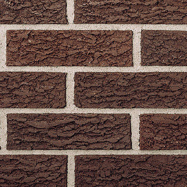clay cladding brick / for facade / embossed / brown