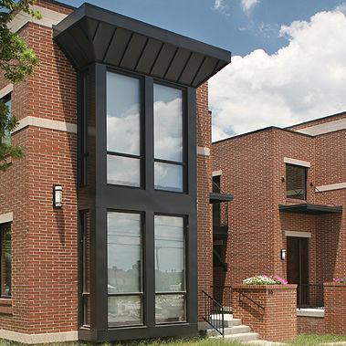 clay cladding brick / for facade / smooth / red